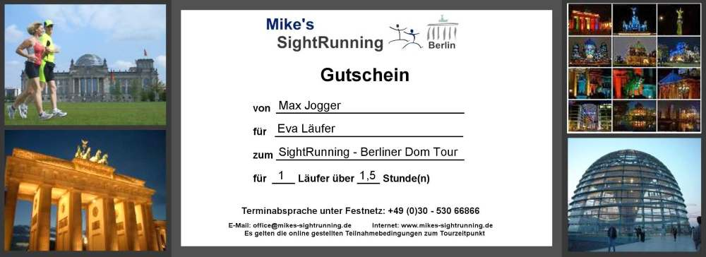 mikes sightrunning berlin geschenkgutscheine f r berlin. Black Bedroom Furniture Sets. Home Design Ideas